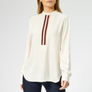 Calvin Klein Women's Placket Detail Shirt - Sea Salt