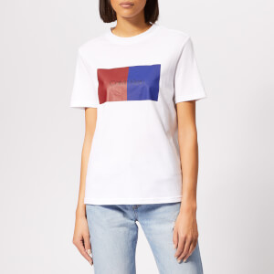 Calvin Klein Women's Duo Print T-Shirt - White