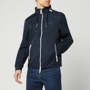 Armani Exchange Men's Zipped Blouson Jacket - Navy