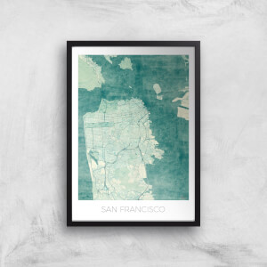 City Art Coloured San Francisco Map Art Print