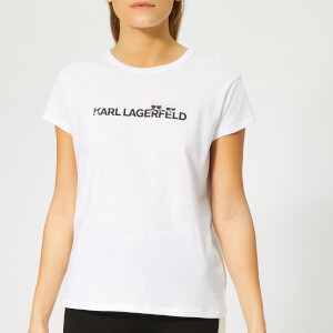 Karl Lagerfeld Women's Ikonik & Logo T-Shirt - White