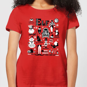 T-Shirt Elf Christmas - Rosso - Donna