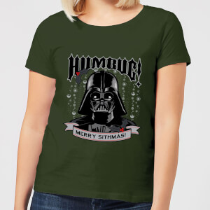 Star Wars Darth Vader Humbug Women's Christmas T-Shirt - Forest Green