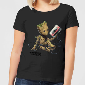 Guardians Of The Galaxy Groot Tape Damen Christmas T-Shirt - Schwarz