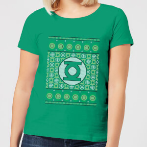 T-Shirt DC Green Lantern Knit Christmas - Kelly Green - Donna