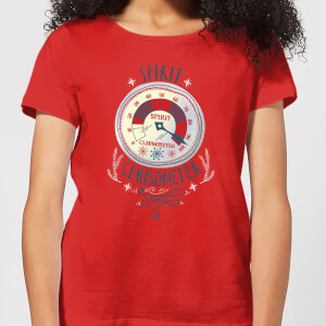T-Shirt Elf Clausometer Christmas - Rosso - Donna