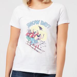 DC Snow Day! Women's Christmas T-Shirt - White