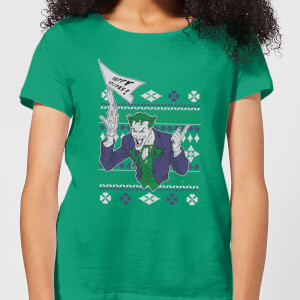 DC Joker Women's Christmas T-Shirt - Kelly Green