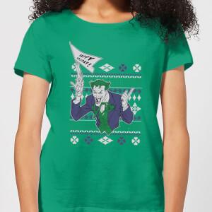 T-Shirt DC Joker Christmas - Kelly Green - Donna