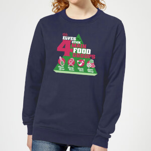 Felpa Elf Food Groups Christmas - Navy - Donna