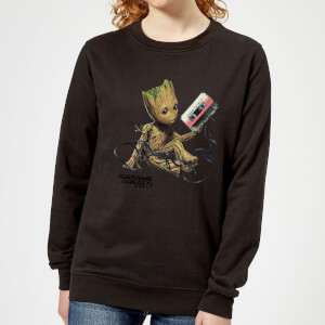 Guardians Of The Galaxy Groot Tape Damen Weihnachtspullover - Schwarz