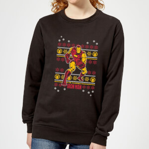 Marvel Iron Man Women's Christmas Sweatshirt - Black