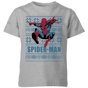 Marvel Spider-Man Kids' Christmas T-Shirt - Grey