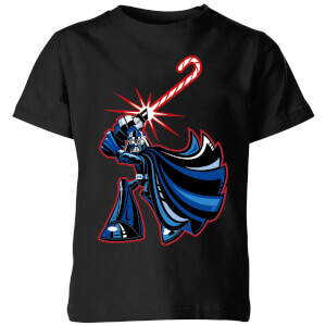 Star Wars Candy Cane Darth Vader Kids' Christmas T-Shirt - Black