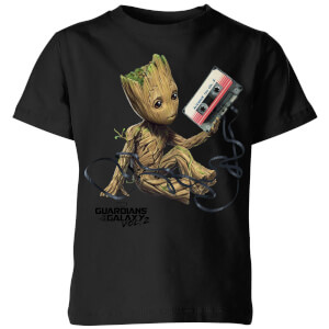 Guardians Of The Galaxy Groot Tape Kids' Christmas T-Shirt - Black
