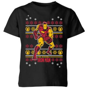T-Shirt Marvel Iron Man Christmas - Nero - Bambini