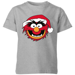 The Muppets Animal Kids' Christmas T-Shirt - Grey