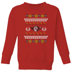 Star Wars Yoda Knit Kids' Christmas Sweatshirt - Red