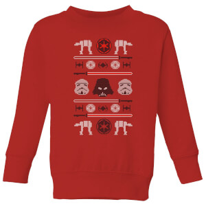 Star Wars Imperial Knit Kids' Christmas Sweatshirt - Red