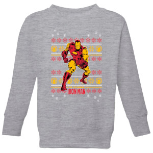 Marvel Iron Man Kids' Christmas Sweatshirt - Grey