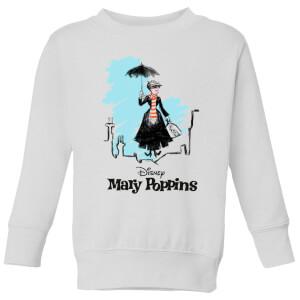 Mary Poppins Rooftop Landing Kinder Weihnachtspullover - Weiß