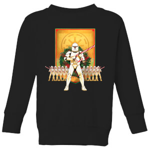 Star Wars Candy Cane Stormtroopers Kids' Christmas Sweatshirt - Black