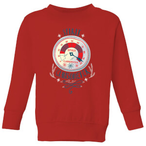 Elf Clausometer Kids' Christmas Sweatshirt - Red