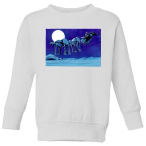 Star Wars AT-AT Darth Vader Sleigh Kids' Christmas Sweatshirt - White
