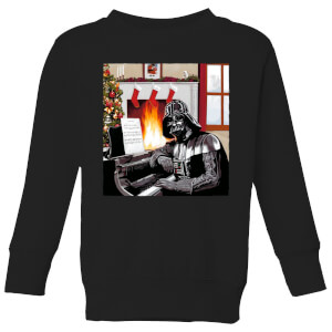 Star Wars Darth Vader Piano Player Kids' Christmas Sweatshirt - Black