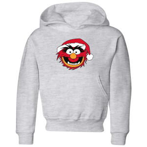 The Muppets Animal Kids' Christmas Hoodie - Grey
