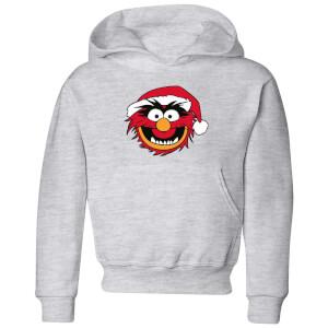 The Muppets Animal Kids' Christmas Hoodie - Grey