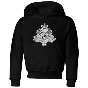 Marvel Shields Snowflakes Kids' Christmas Hoodie - Black