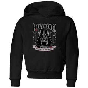 Star Wars Darth Vader Humbug Kids' Christmas Hoodie - Black