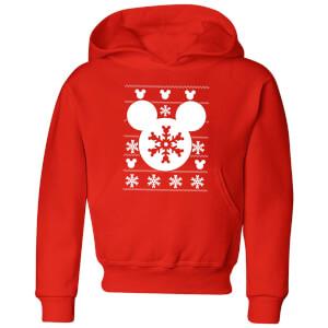 Disney Snowflake Silhouette Kids' Christmas Hoodie - Red