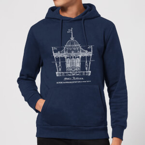 Mary Poppins Carousel Sketch Christmas Hoodie - Navy