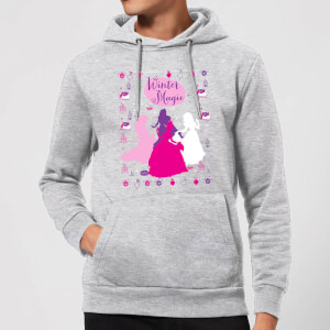 Disney Princess Silhouettes Christmas Hoodie - Grey