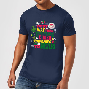 Elf Christmas Cheer Men's Christmas T-Shirt - Navy