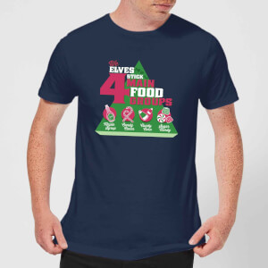 T-Shirt Elf Food Groups Christmas - Navy - Uomo