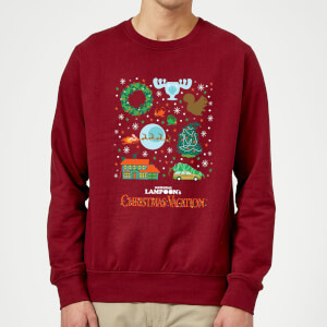 National Lampoon Griswold Christmas Starter Pack Christmas Sweater - Burgundy