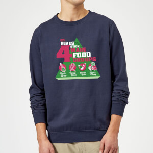 Felpa Elf Food Groups Christmas - Navy