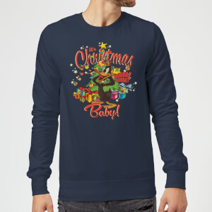 Looney Tunes Its Christmas Baby Christmas Sweatshirt - Navy