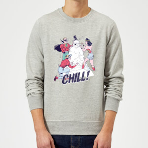 DC Chill! Weihnachtspullover - Grau