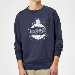 Harry Potter Yule Ball Baubel Christmas Sweatshirt - Navy