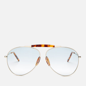 Acne Studios Men's Howard Sunglasses - Pale Gold/Light Blue