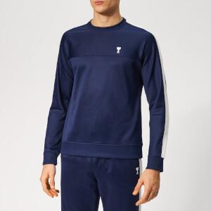 AMI Men's Contrast Bands Sweatshirt - Navy