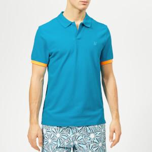 Vilebrequin Men's Palatin Collar Logo Polo Shirt - Seychelles