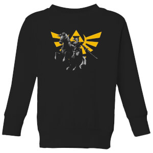 Nintendo Legend Of Zelda Hyrule Link Kid's Sweatshirt - Black