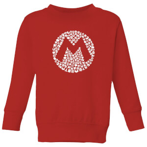 Nintendo Super Mario Mario Items Logo Kid's Sweatshirt - Red