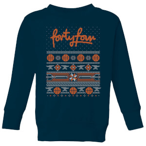 How Ridiculous Forty Four Knit Kids' Christmas Sweatshirt - Navy