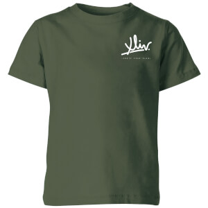 How Ridiculous XLIV Script Pocket Kids' T-Shirt - Forest Green